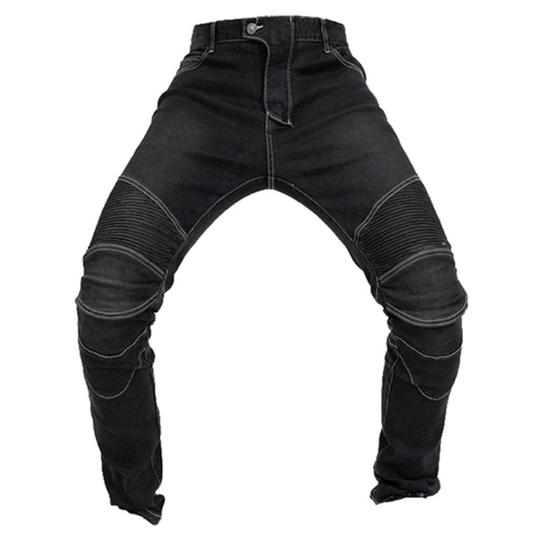 2019 Waterproof Men Motorcycle Riding Pants With 4 X Knee Hip Pads armor Moto Pantalon Jeans Anti-fall Rainroof Motocross Racing Protective Pants S-3XL