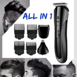 Professional Turbocharged Rechargeable Hair Clipper Electric Hair Trimmer for Men Cutter Hair Cutting Machine Haircut Barber