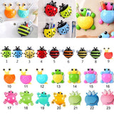 23 Colors Cute Animal  Creative Toothbrush Holder Family Set Wall Bathroom Hanger Suction Bathroom Accessories