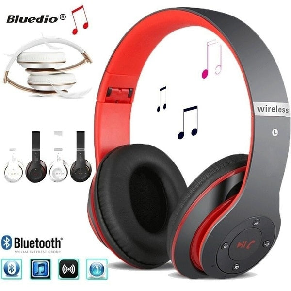 New Fashion S6 Bluetooth Headphones Wireless Bluetooth 4.0 Heavy Bass Stereo Folding Auriculares with Mic Support TF SD Card The Best Gift