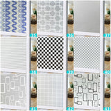 60x100cm Glass Bathroom Door Window Frosted Stickers Self-adhesive Waterproof PVC Wall Stickers