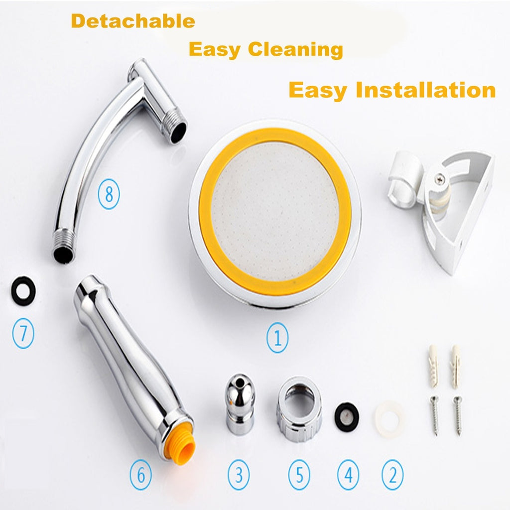 6/9 Inch Rainfall Shower Head Bathroom Square Shower Head Pressurized Shower Sprayer Kit