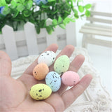 30pcs/set Simulation Quail Eggs Plastic Foam Model Small Eggs Easter eggs for Scene Layout Decoration / Photographic Background Props.