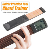 6 String 4/6-Grade Portable Pocket Acoustic Guitar Practice Tool Wooden Beginner Chord With/Without Digital Screen Chord Practice Tool Black/White/Grey