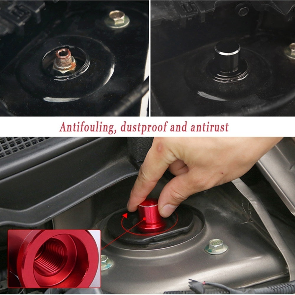 Shock Absorber Screw Aluminium alloy Cap Protective Nut Cover For Nissan Qashqai X-TRAIL ROGUE Mazda ATENZA CX-5 ASX Car Styling