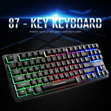 Load image into Gallery viewer, 1*87 Keys USB Mechanical E-sports Gaming Keyboard Backlit For Notebook New