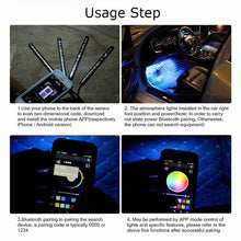 Load image into Gallery viewer, 36/72LED RGB Car Interior Decorative Floor Atmosphere Strip Light Charger APP Controlled Lamp