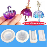 Multifunction Umbrella Shape 3D Mold Jewelry Making Tools Resin Clay Molding DIY Pendants Silicone Mould