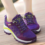 Women Safety Shoes Breathable Working Shoe Construction Safety Boots Outdoor Climing Shoes