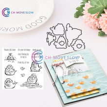 Load image into Gallery viewer, SU Retired Animal and flower collection3 Metal Cutting Dies and stamps DIY Scrapbooking Card Stencil Paper Craft Wedding Decor