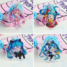 Load image into Gallery viewer, Japanese Anime Hatsune Keychain Acrylic Keyring Key Chain Pendants