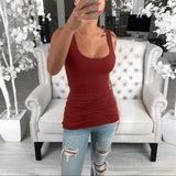 S-5XL New Women Fashion Summer Vest Solid Cotton Casual Plus Size Tank Tops Sleeveless Comfortable T-shirt Women Sling Fashion Tops