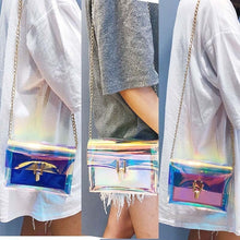 Load image into Gallery viewer, Women's Transparent Bag Transparent PVC Jelly Small Handbag Messenger Bag Girl One Shoulder Bags URU
