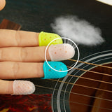 12 Pcs/Set Silicone Guitar Fingerstall Ukulele Thumb Pick Finger Protective Sleeve Finger-cot Guitar Tool for New Learner Beginner