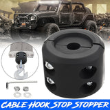 Universal Winch Cable Hook Stopper Rubber Rope Line Saver Winch Saver for ATV UTV Vehicle(Color:Black)
