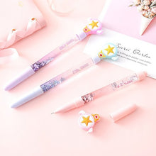 Load image into Gallery viewer, 0.5Mm Cute Anime Sailor Moon Tsukino Usagi Prism Stationery Sequin Crystal Gel Pens School Students Girls Writing Pens
