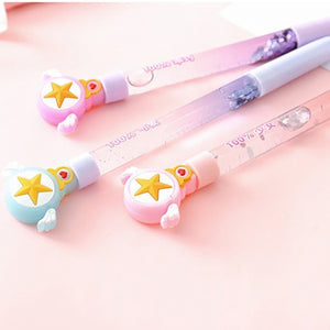 0.5Mm Cute Anime Sailor Moon Tsukino Usagi Prism Stationery Sequin Crystal Gel Pens School Students Girls Writing Pens