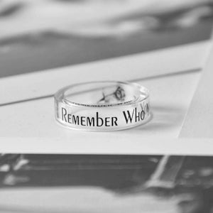 Remember Who You Are Inspirational Ring Transparent Band Ring Handmade Ring Father's Gift for Son