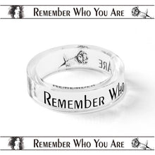 Load image into Gallery viewer, Remember Who You Are Inspirational Ring Transparent Band Ring Handmade Ring Father's Gift for Son