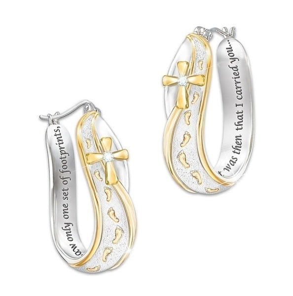 High quality perfect earrings 'exquisite fashion 925 silver footprint' 'earring earrings wedding jewelry fashion accessories lover's gift'