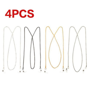 4Pcs/1Pc Multicolor Sunglasses Reading Glasses Spectacles Neck Cord Strap Metal Chain Holder