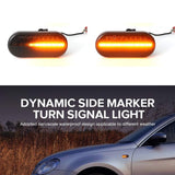 1 Pair Led Dynamic Side Marker Turn Signal Light For VW Bora Golf 3 4 Passat 3BG Polo Skoda Ford