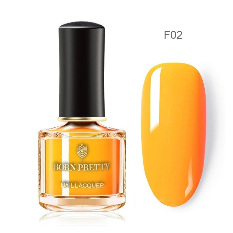 BORN PRETTY Fluorescence Nail Polish Yellow Green Colorful Long Lasting Nail Varnish