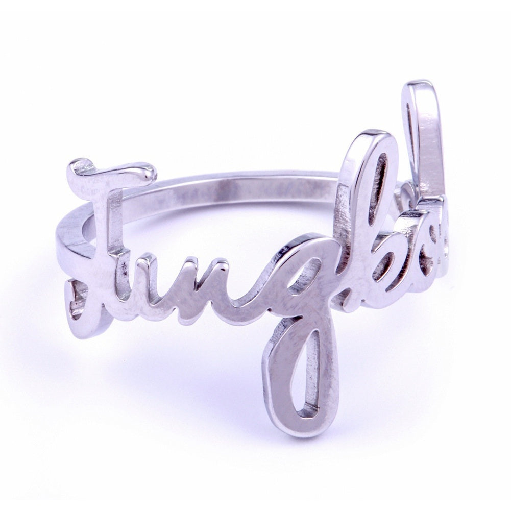1 Pc Rap Monster Jimin Jin Suga V J-Hope Jung Kook Kpop Silver Ring Unisex 8 Style Bangtan Boys BTS Album Ring Steel Ring Jewelry Accessories