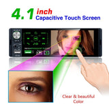1 Din 4.1 Inch Bluetooth HD Touch Capacitive Screen FM Audio Autoradio Aux RDS USB TF R¨¢dio Do Carro With MIC And Camera