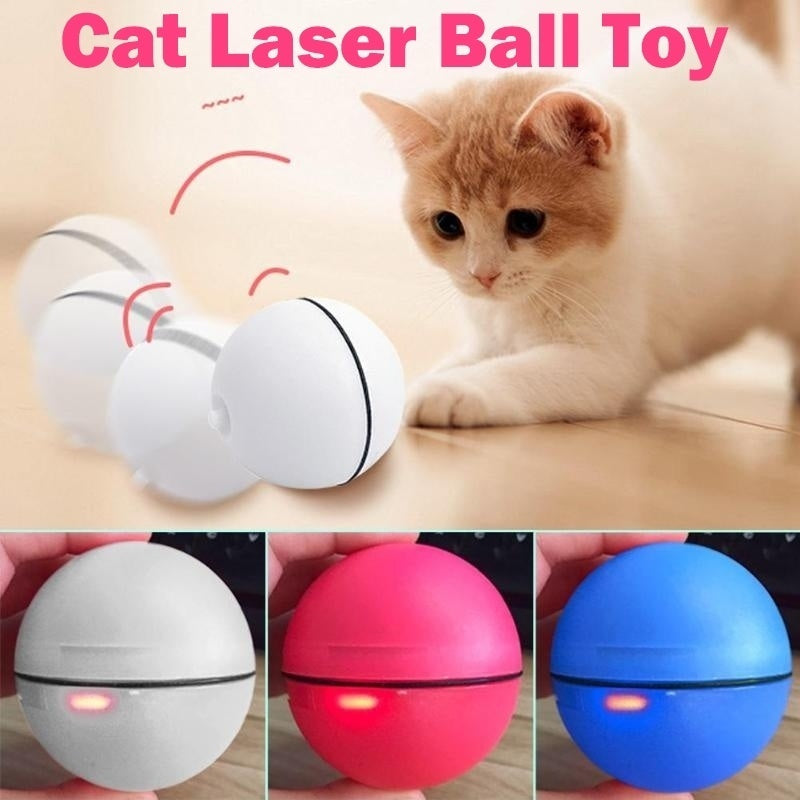 Cat Toy Rolling Ball LED Red Light Motion Activated Ball Pet Interactive Toy with Batteries