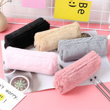 Students School Pencil Pen Case Ladies Cosmetic Makeup Bag Velvet Fleece Storage Pouch Makeup Brush Purse