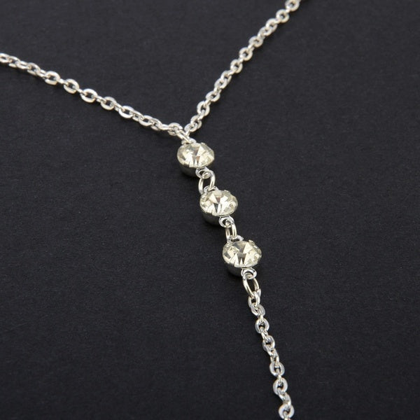 1 Pcs Long Necklace Body Sexy Chain Bare Back Gold silver crystal Rhinestone Pendant Chain Necklace Jewelry