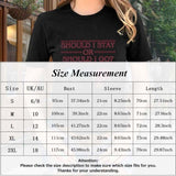 2019 New Fashion Men Women Stranger Things 3 Should I Stay Or Should I Go Letter Print O Neck Short Sleeve T-Shirt Casual T Shirt Tops