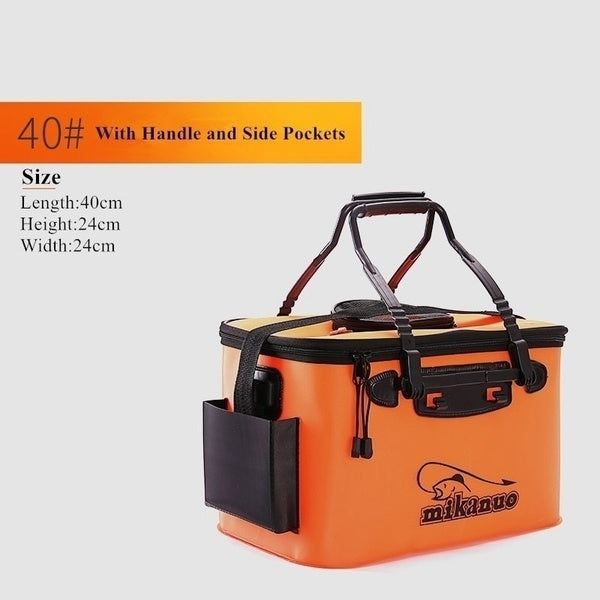 Portable EVA Fishing Bag Collapsible Fishing Bucket Live Fish Box Water Container Pan Basin Tackle Storage Bags for Fishing/Camping/Hiking