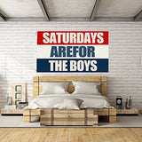 Saturdays for Boys Flag for Indoor and Outdoor 3X5 FT Dorm Room Decor Banner Print One Side