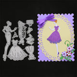Dress women Stencil Metal Cutting Dies for Scrapbooking Album Craft embossing stamps and dies set for wedding card making