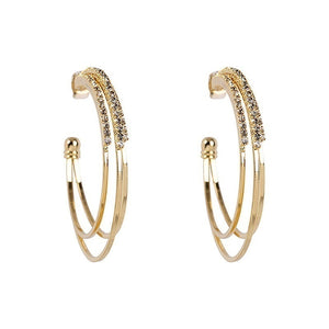 Dazzling Women 925 Solid Sterling Silver & Yellow Gold Earring Natural Gemstone Diamond Hoop Earrings Jewelry Gifts