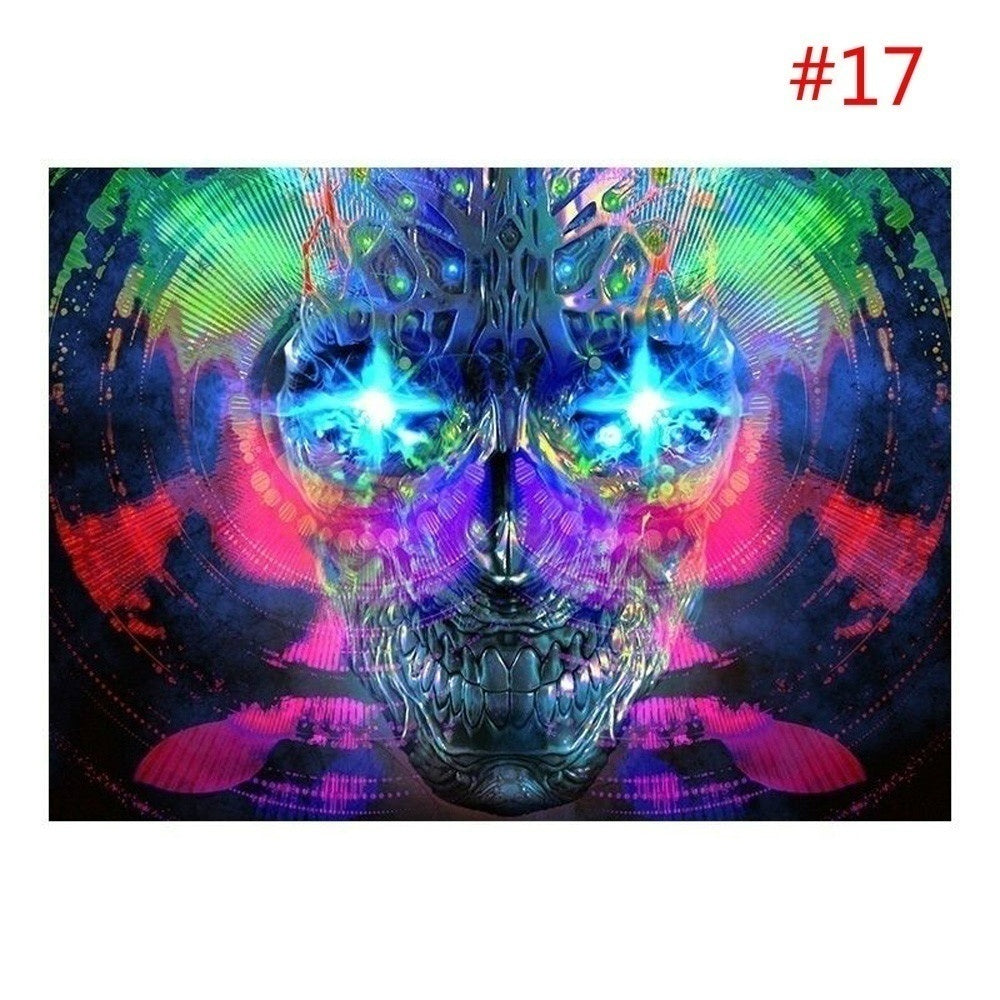 Psychedelic Trippy Art Fabric Art Cloth Poster Wall deocor