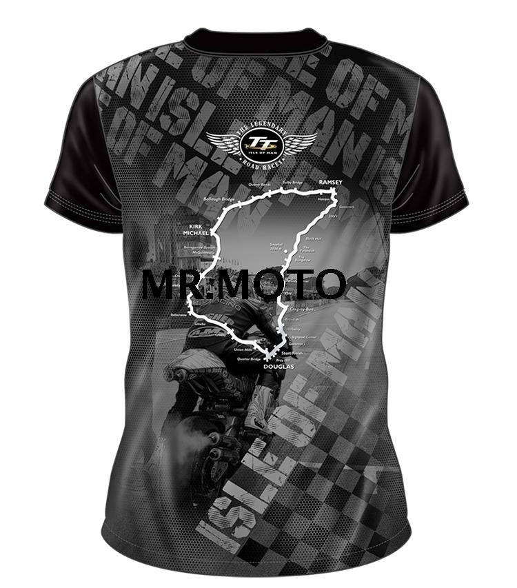 Isle Of Man TT Super Racing T-shirt Motorcycle Knight Breathable Comfortable Short Sleeved T Shirts And Printed On The Front And Back