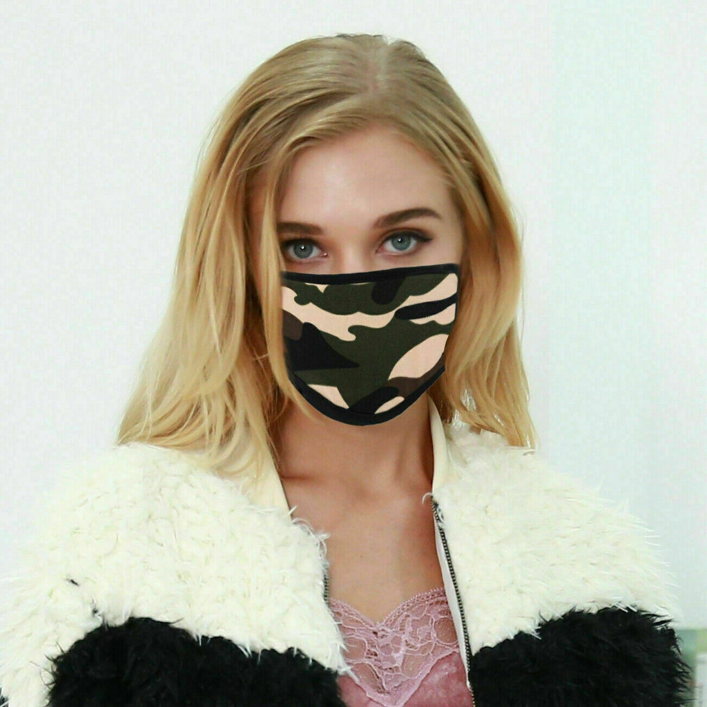Women Washable PM2.5 Leopard Print Face Mask Reusable Anti -fog Mouth Mask Respirator
