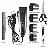 Surker Full Set Professional Electric Hair Trimmer Men Kids Adjustable Hair Cutting Machine Shaving Home Clipper