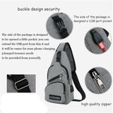 1 Piece Large Capacity Bag Casual Outdoor Travel USB Charging Port