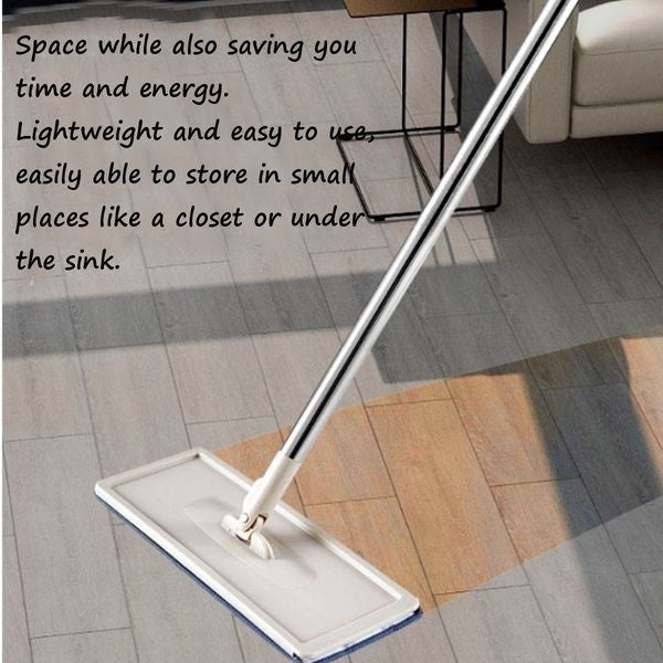 Flat Squeeze Mop with 1/2/4/6/8 Microfiber Mop Pads Lazy Mop Bucket Avoid Hand Washing Flat Floor Mop Self Wet And Dry Cleaning Mop Bucket