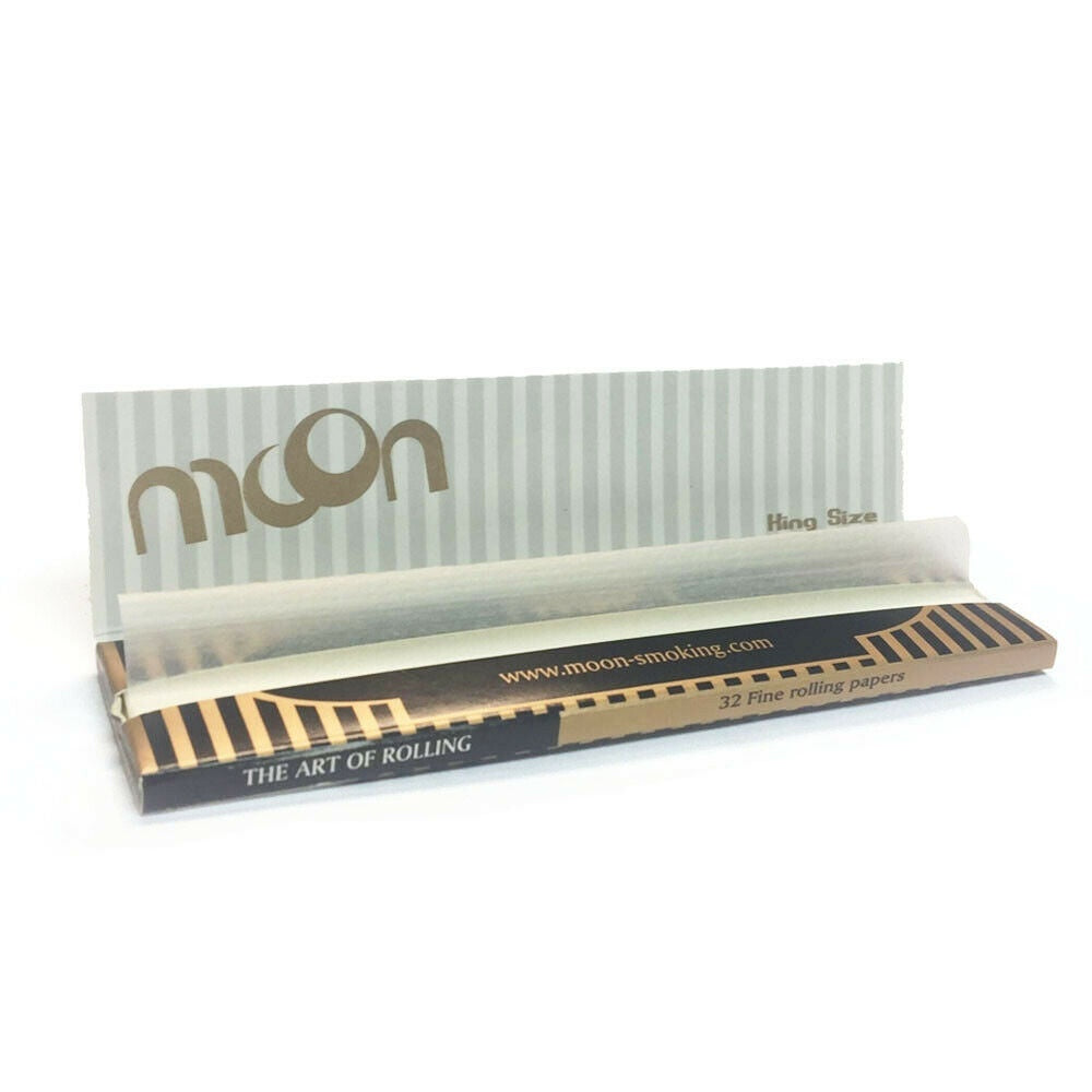 Moon 50 Booklet Mix Flax King Size Slim Rolling Paper 1600 Leaves