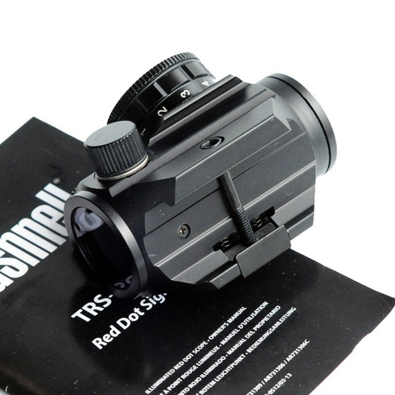 2020 New Multifunctional TRS-25 Holographic Red Dot Sight Rifle Laser Scope 1x25mm with LED Light Hunting Scope Adjustable Telescope