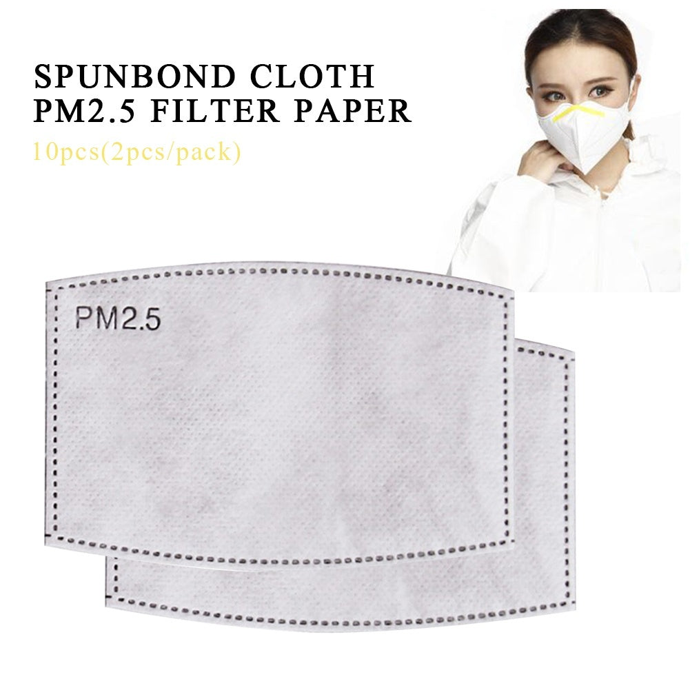 50/30/20/10 PCS Adult Child Pm2.5 Activated Carbon Filter Face Mask Filters Breathing Insert Protective Mouth Mask Filter