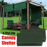 2Pcs 4.72X1.2m Sun Shade Pergola Canopy Outdoor Cover Garden Patio Shelter