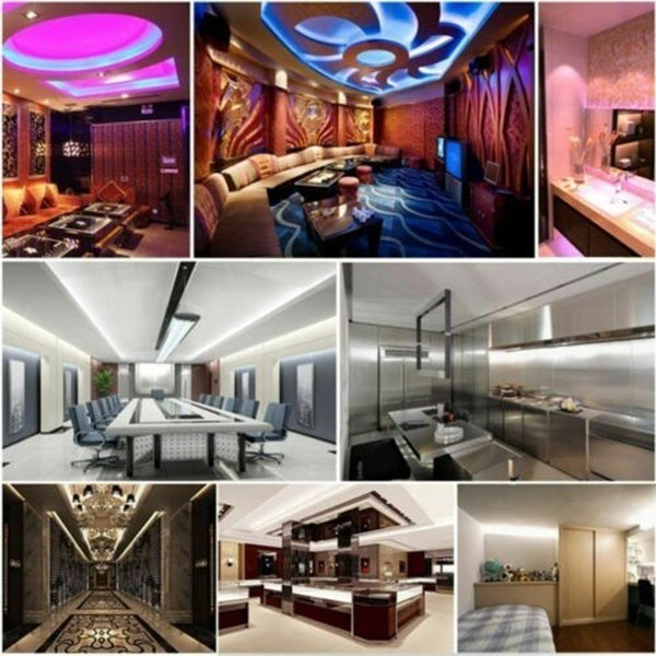 5/10/15/20M LED Strip Lights RGB Colour-Changing with Remote and 12V Power Cable SMD 3528