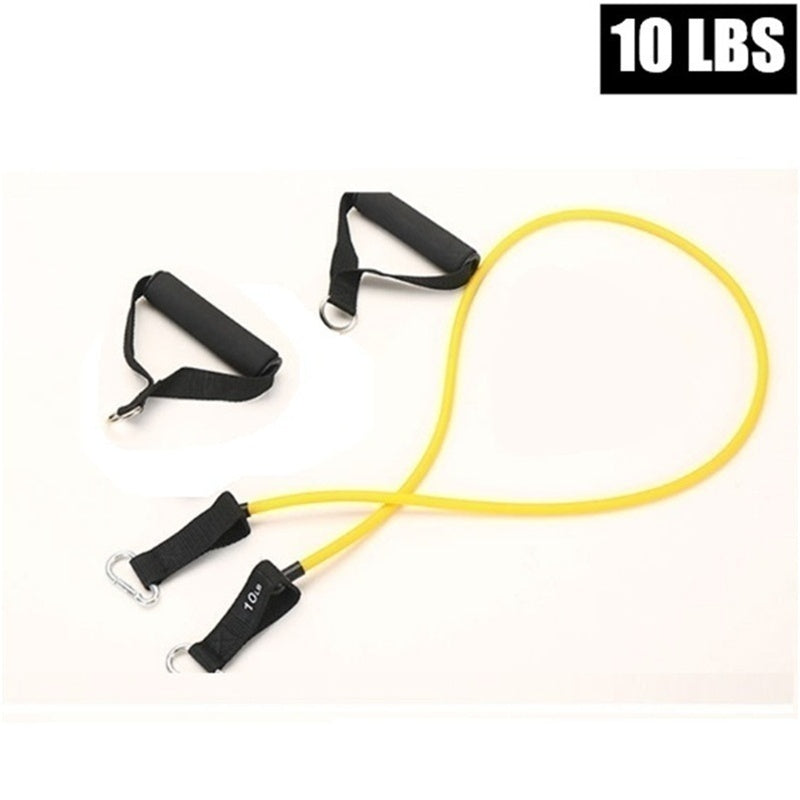 10~100LB Indoor Fitness Elastic Rope Resistance Bands Yoga Exercise Fitness Band Rubber Loop Tube Bands with Ankle Straps,handles,door Anchor and Carrying Bag