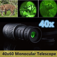 Load image into Gallery viewer, Night Vision  Telescope Binocular Monocular 40X60 Dual Focus Telescopio Green Film Binoculo Optical Prism Hunting High Quality Tourism Scope
